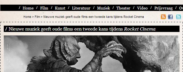 Reportage   Rocket Cinema   CultuurBewust.nl